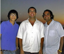Steven, Nick, and Phil on the island of Santorini, Greese July, 2005 (seven months before diagnosis)