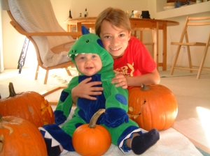 Conor and me before getting ready for Halloween