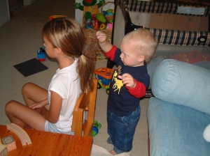 Conor loved to pull my hair!
